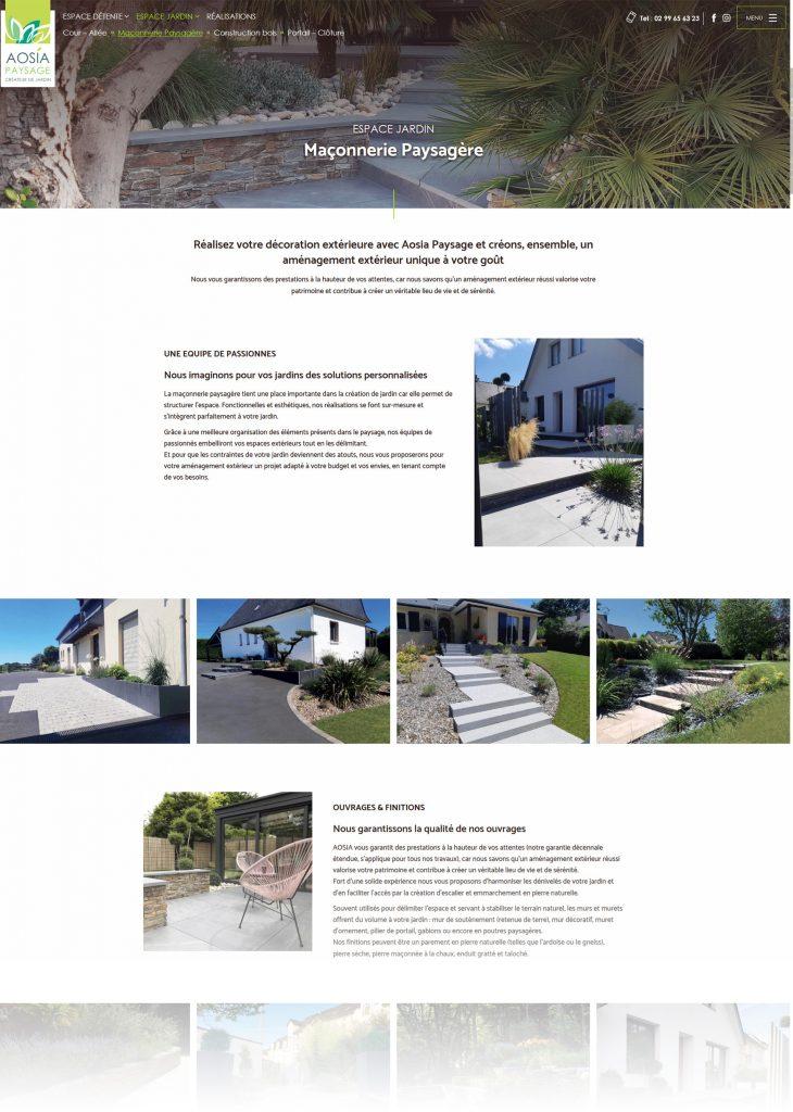 Aosia mise en page site web